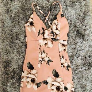 Skin tight floral dress